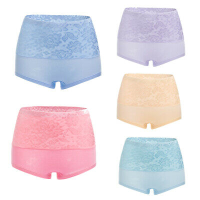 Women Cotton Briefs High Waist Abdomen Body Shaping Underpants Panties Underwear
