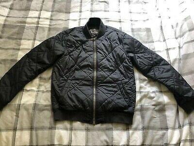 479a0161d MENS BARBOUR INTERNATIONAL Steve McQueen Quilted Bomber Jacket Navy Size  Small