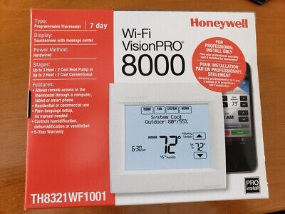 Honeywell Wi-Fi VisionPRO 8000 Programmable Thermostat - White