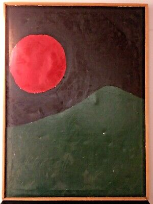 """LARRY BROWN *HUGE* Original Abstract Painting 1979 Mid Century Modern 40"""" X 53"""""""