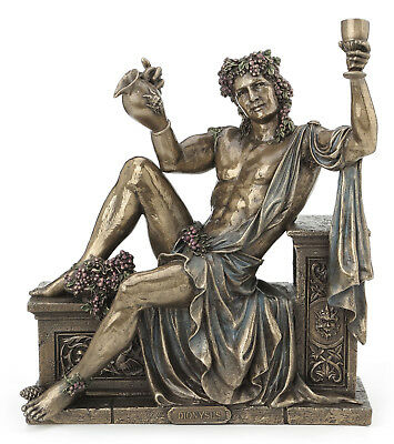 Dionysus Greek God of Wine & Festivity Statue  *GIFT BOXED *WELL MADE