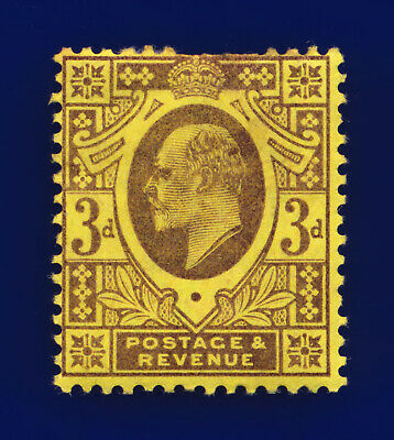 1902 SG232 3d Dull Purple/Orange-Yellow M19(1) Mint Full Gum Cat £50 cmnv