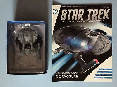 U.S.S. Thunderchild NCC 63549 Model + Magazine Eaglemoss Star Trek Issue 12