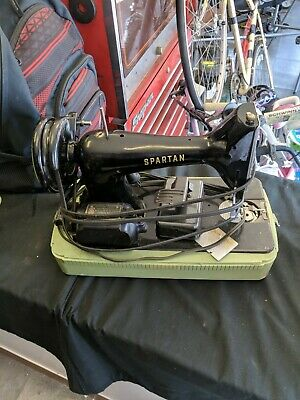 Vintage Singer Spartan Manufacturing Sewing Machine with Case BU7-E