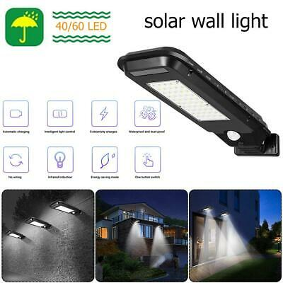 Outdoor Solar Street Light 40/60LED Waterproof Path Yard Motion Sensor Lamp #K