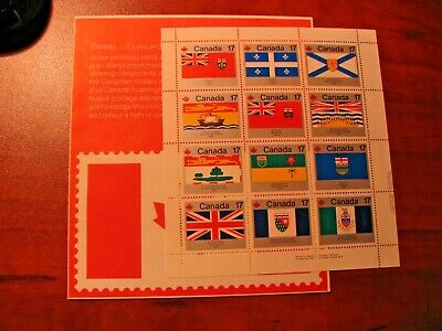 Canada 1979 2.04$ #821-823a Provincial and Territorial Flags SS Mint NHVF