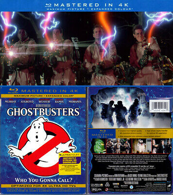 Blu-ray Bill Murray GHOSTBUSTERS 1984 Sony 4K Mastered + SLIPCOVER US OOP A/B/C