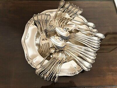 Christofle Marly Silverplated Set 60 Pcs / 12 People  New
