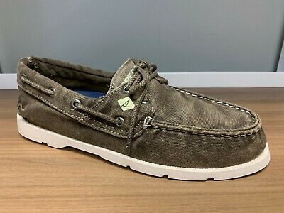 Men's Sperry Top-Sider Leeward 2-Eye Canvas Boat Shoes - Washed Brown