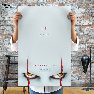 "It Chapter 2 Poster 2019 Movie Stephen King Horror 24x36"" 27x40"" Art Film Print"