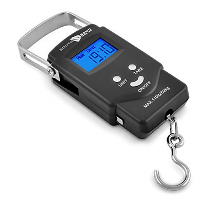 Portable Electronic Digital Fishing Hanging Scale Hook Extremely Accurate Black