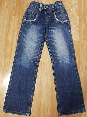 Next Boys Stonewashed Jeans Age 7 Years Blue Denim Trousers Adjustable Waist
