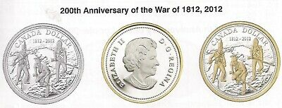 Canada 2012 Proof Commemorative Dollar. 925 % Silver.- The War Of 1812.