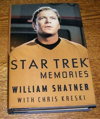 "Book: ""Star Trek Memories"" Written & Autographed by CPT Kirk - William Shatner"