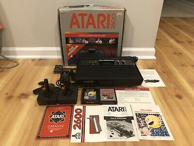 Atari 2600 VCS 4-switch system - ORIGINAL BOX, controllers, games - Tested!