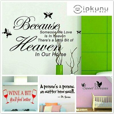 Aphorisms Mural Art Quotes Removeable Wall Stickers Home Vinyl Decals Decor US
