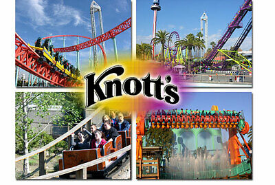KNOTTS - Knott's Berry Farm (2) Tickets - Print 'n Go or Mobile - thru Labor Day