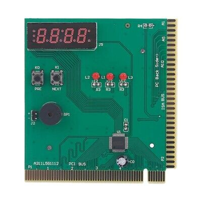 4-Digit Card Pc Analyzer Computer Diagnostic Motherboard Post Tester For Pci 1H3