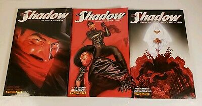 Lot Of 3 Dynamite The Shadow Volumes 1 2 3 Graphic Novels Paperback Books