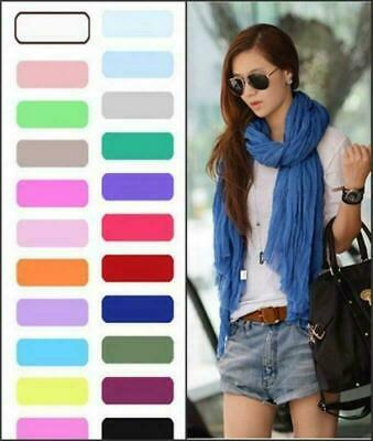 Candy Color Womens Scarves Fashion Solf Scarves Wraps Long Crinkle Shawl en-01