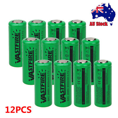 16/12/8/4 Pcs 26650 8000mAh 3.7V Rechargeable Lithium Li-ion Batteries For Torch