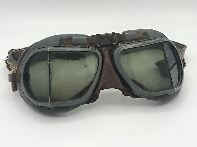 Ww2 British RAF Flight Goggles Wwii Nice Army Air Corps Air Force US Pilot Force