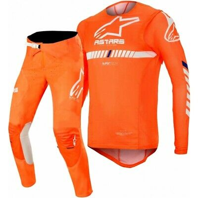 2020 Alpinestars Supertech Flo Orange White Motocross MX Race Gear Adult