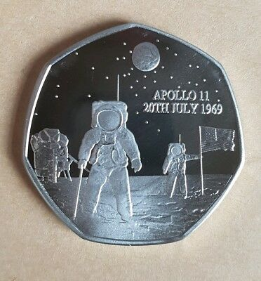 Apollo 11 20Th July 1969 50Th Anniversary Commemorative Coin/ 50P Fifty Pence