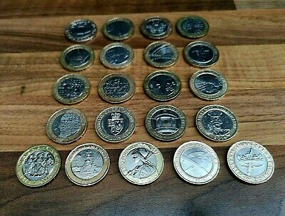 Two Pound Coin Job Lot Rare £2 x 21 Commemorative Coins Collection 2 Pounds £2