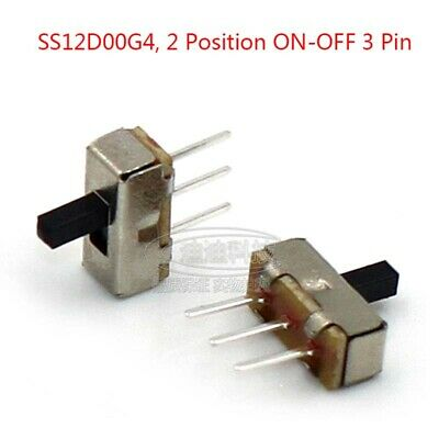 2 Position ON-OFF 3 Pin Slide Toys Mini Switch Vertical Microswitch 4mm Terminal