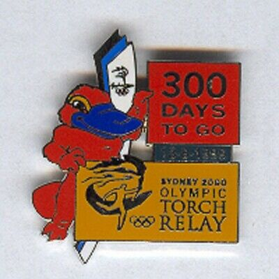 Sydney 2000 - Torch Relay 300 Days To Go Olympic Pin [R-207]
