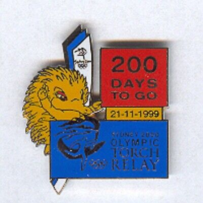 Sydney 2000 - Torch Relay 200 Days To Go Olympic Pin [R-209]