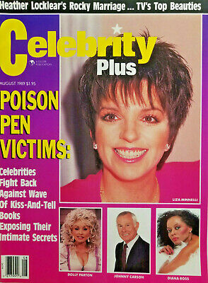 Celebrity Plus Magazine August 1989 Liza Minnelli Dolly Parton Johnny Carson NM