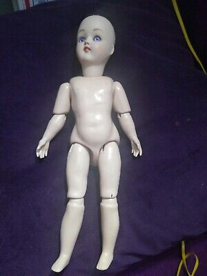 "Beautiful Vintage 14"" Bru Jne unique Reproduction French Doll nude"