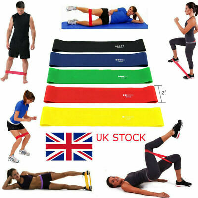 Resistance Exercise Heavy Duty Bands Tube Home Gym Sports Fitness Natural Latex