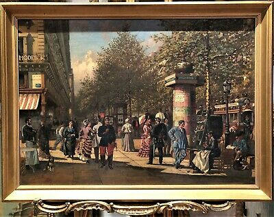 OLD MASTER CIRCLE OF Edouard Detaille OIL PAINTING 19th CENTURY GOLD GILT FRAME