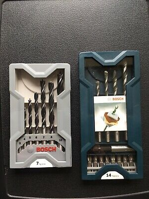 Bosch 7pc X-Pro Brad Point & 14pc Screwdriver and Drill Bit Sets