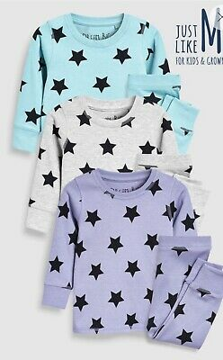 Next Star Mix And Match Snuggle Pjs Pyjamas 3 Pack Size 1.5-2 Years BNIP