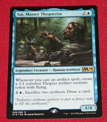 Magic The Gathering Sai, Master Thopterist Core Set 2019 Used