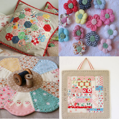 5/6/7pcs Assorti Tissu en Coton Carreaux Patchwork Coupon Fleur Conture