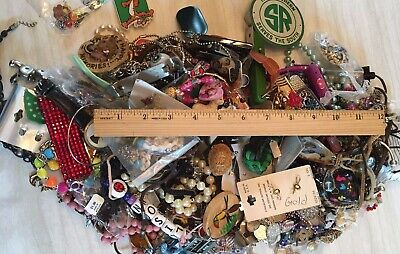 OVER 7 POUNDS Junk Drawer LOT TRINKETS CLIP BELT BUCKLES JEWELRY PINS KEY CHAIN