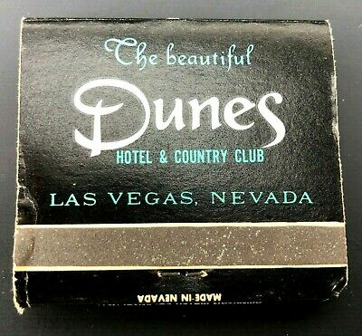 Vintage Matchbook The Dunes Hotel & Country Club Las Vegas Nevada Advertising