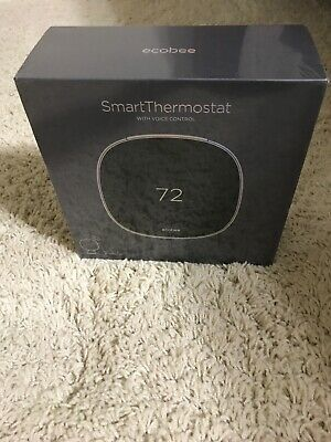 Brand New Ecobee EB-STATE5-01 Programmable Smart Thermostat with Voice Control