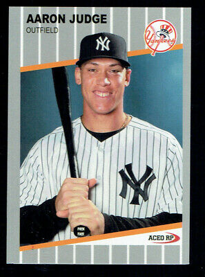 1989 Aaron Judge Fleer F**k Face ACEO Custom Card Parody Mint RARE 2