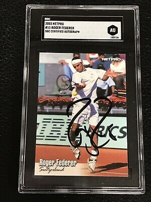 Roger Federer 2003 Netpro Signed Autographed Card #11 Tennis Star Sgc Authentic