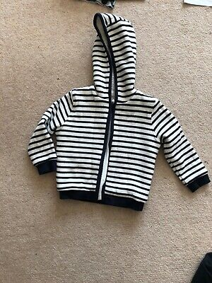 Jasper Conran Baby Boy's Winter Hooded Top Age 18-24 months Mint Condition