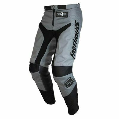 Fasthouse Grindhouse Motocross MX Race Pants Grey Black Adult