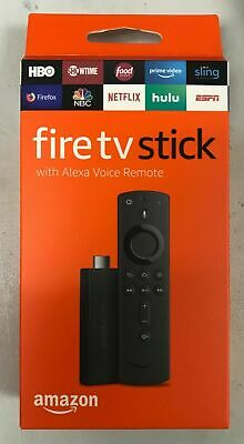 Amazon Fire TV Stick 2019 with  Alexa Voice Remote Streaming Media Player NEW