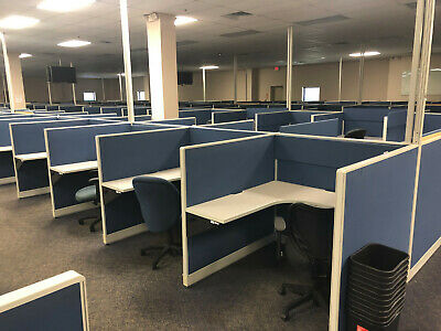 HAWORTH MODULAR OFFICE CALL CENTER TELEMARKETING CUBICAL Local Delivery Availab