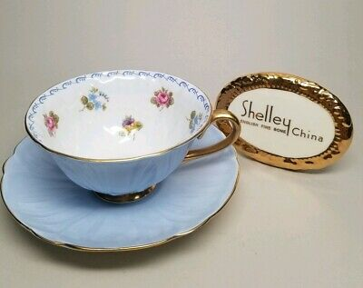 SHELLEY Rose Pansy Forget Me Not (Oleander) 13528 CUP (Damaged) & SAUCER SET